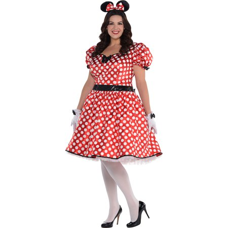 Sassy Minnie Mouse Halloween Costume for Women, Plus Size, Includes