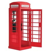 20320 London Telephone Box Multi-Colored