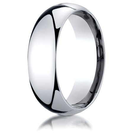 Palladium 7mm Slightly Domed Standard Comfort-fit Ring
