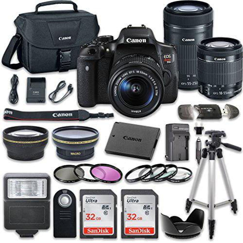 Canon EOS Rebel T6i 24.2 MP Digital SLR Camera Bundle wit...