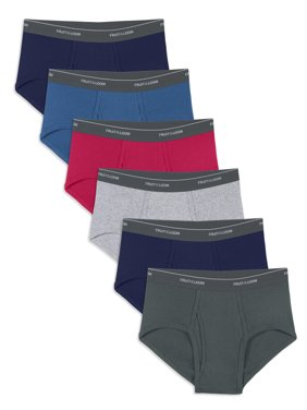 Fruit of the Loom Men's Dual Defense Assorted Fashion Briefs, 6 Pack