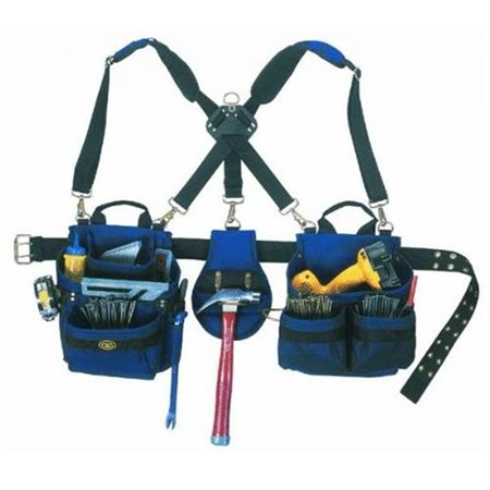 CLC 1614 23 Pocket-5 Piece Framer's Comfort Lift Combo Rig Tool Belt by Custom Leathercraft