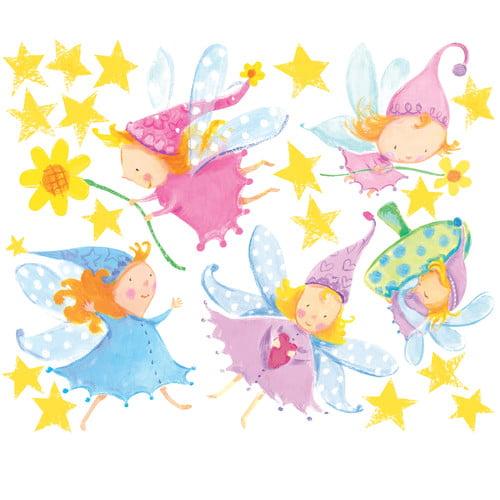 Wallies Cute Fairies Wall Decal