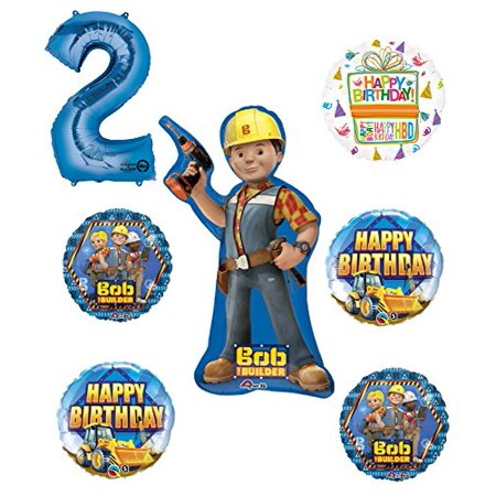 Bob The Builder Construction 2nd Birthday Party Supplies and Balloon Decorations - Bomb Party