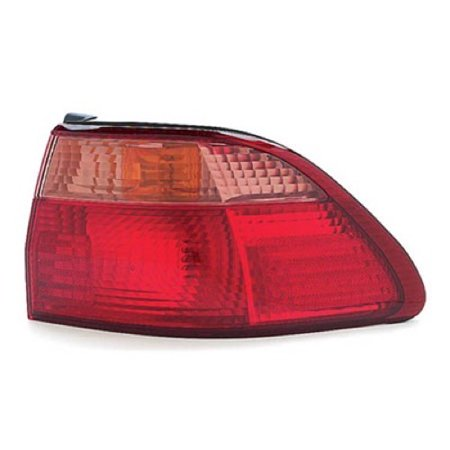 Go-Parts OE Replacement for 1998 - 2000 Honda Accord Rear Tail Light Lamp Assembly / Lens / Cover - Right (Passenger) Side Outer - (4 Door; Sedan) 33501-S84-A01 HO2801121 Replacement For