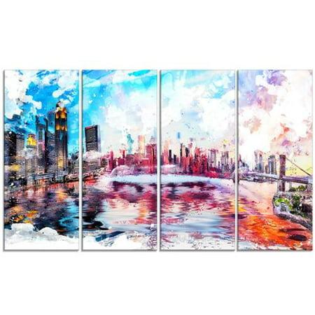 DESIGN ART - Colorfull NYC Cityscape- Canvas Art