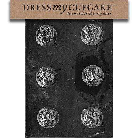 Dress My Cupcake DMCE019 Chocolate Candy Mold, Marshmallow Puffs, (Pastry Marshmallow)