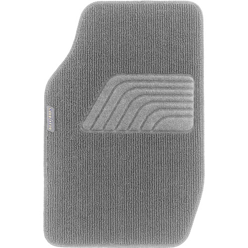 Goodyear 4pc Premium Carpet Floor Mats, Gray