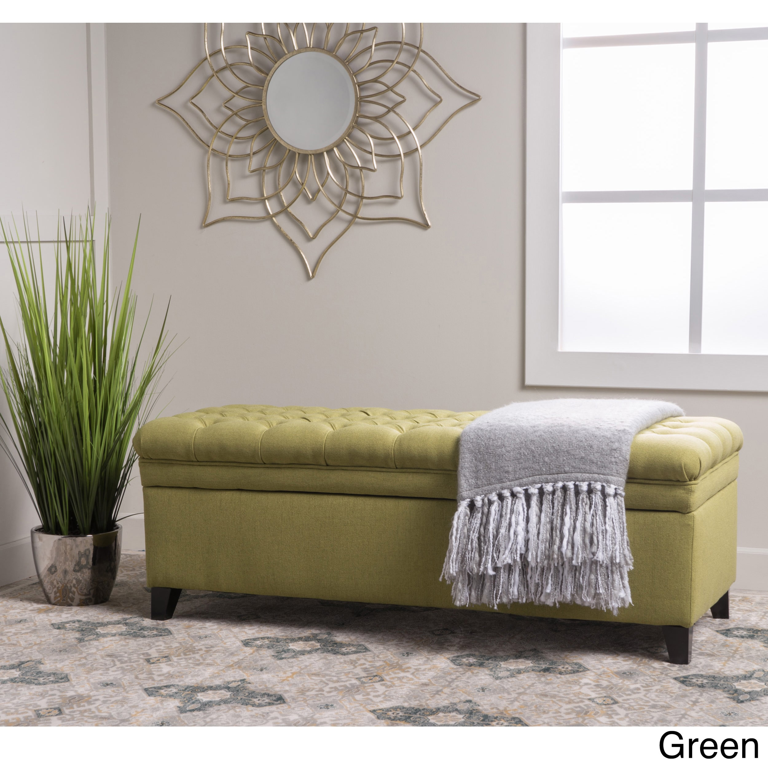 Christopher Knight Home Hastings Tufted Fabric Storage Ottoman Bench by