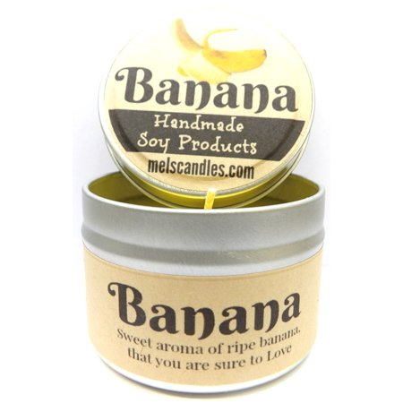 Banana 4 Ounce Handmade Soy Candle Tin - Made in Rolla (4.5 Ounce Tin Candle)