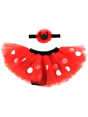 Disney Minnie Mouse Dress Up Headband and Tutu Set, Baby Girls, Age 0-12M