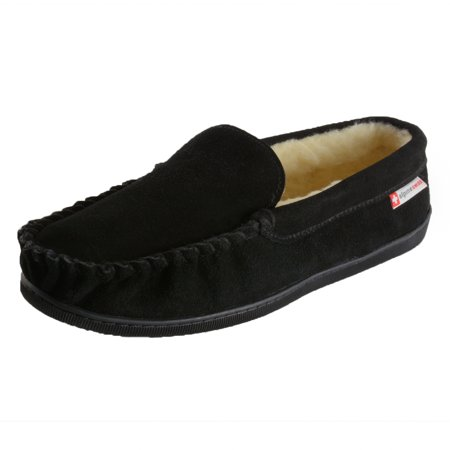 c44b9fe26 Alpine Swiss - Alpine Swiss Yukon Mens Suede Shearling Moccasin Slippers  Moc Toe Slip On Shoes - Walmart.com