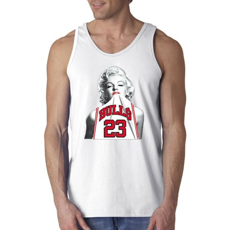 New Way 193 - Men's Tank-Top Marilyn Monroe Bulls 23 Jordan Jersey