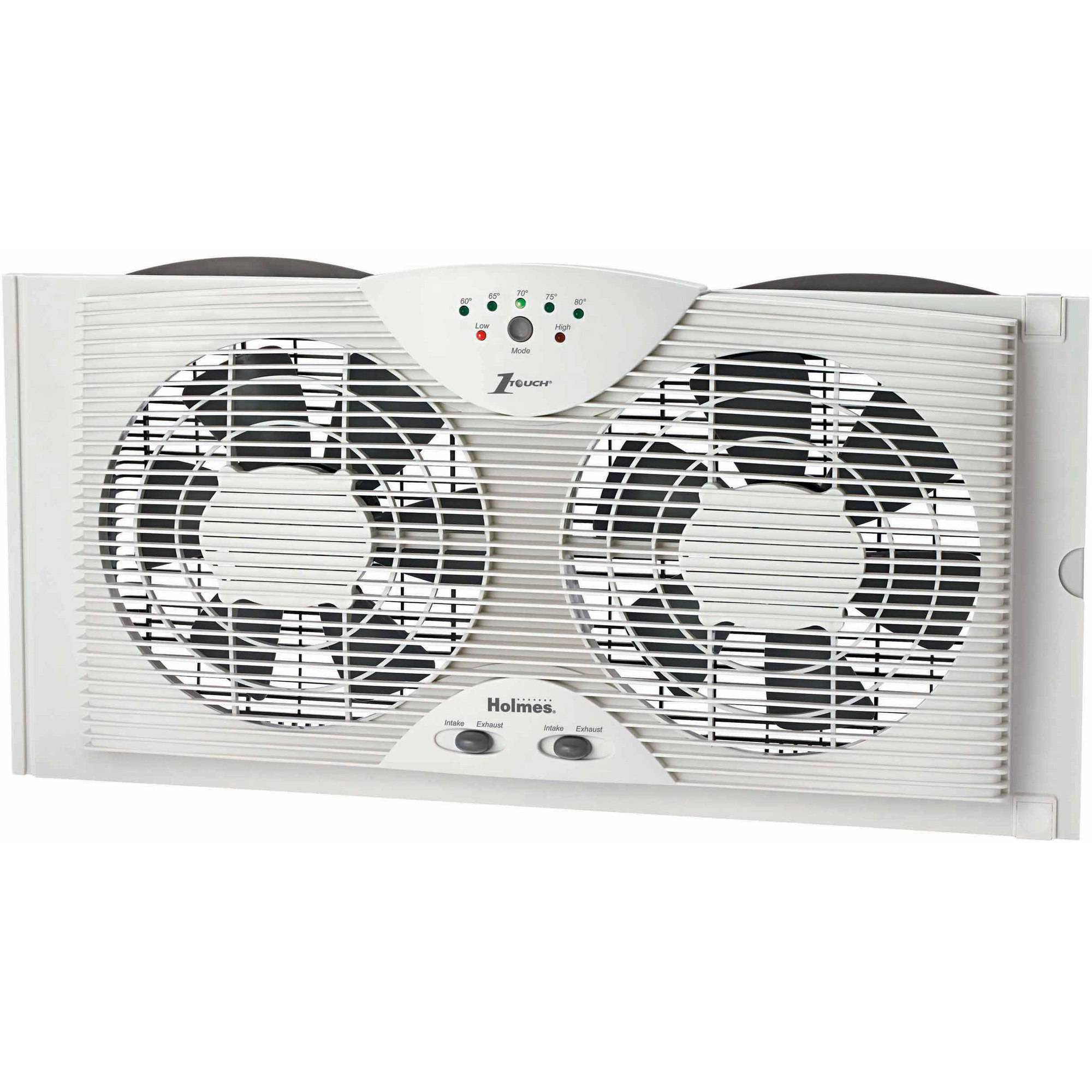Holmes Twin Window Fan, White