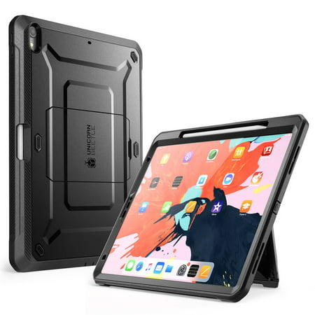 SUPCASE UB Pro Series Case for iPad Pro 11 2018, Support Pencil Charging with Built-in Screen Protector Full-Body Rugged Kickstand Protective Case for iPad Pro 11 inch 2018 Release