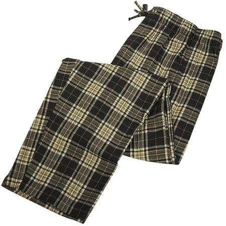 Private Label - Mens Flannel Lounge Pant, Grey, Khaki 36899-X-Large Grey Plaid / X-Large
