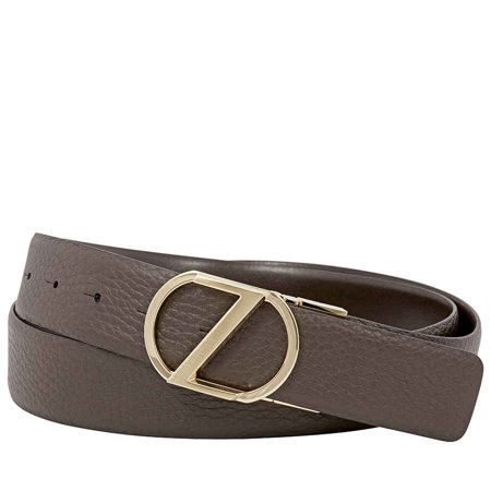 Zegna Men's XL Reversible Calfskin Leather Belt - Brown (Zegna Calfskin Belt)