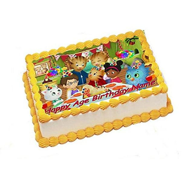 Astonishing Daniel Tiger Edible Image Sheets Cake Toppers Frosting Sheet Personalised Birthday Cards Veneteletsinfo