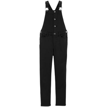 - OshKosh B'gosh Little Girls' Button Front Overalls, Black