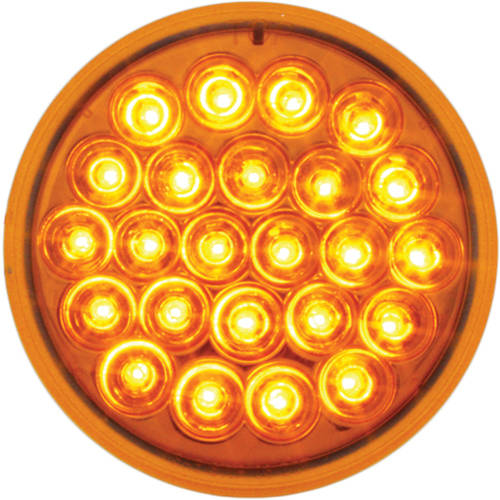 """Grand General Red 4"""" Round Pearl 24 LED Stop/Turn/Tail Sealed Light"""