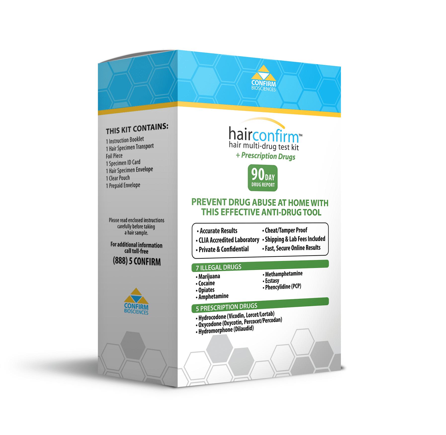 Drug Test Kits >> Hairconfirm Hair Multi Drug Test Kit Walmart Com