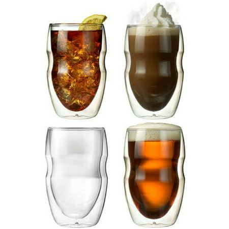 Ozeri Serafino 12 oz. Double Wall Beverage and Coffee Glasse