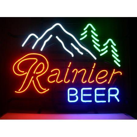 Deliver Neon Sign - Desung Brand New Rainier Beer Jokul Tree Neon Sign Lamp Glass Beer Bar Pub Man Cave Sports Store Shop Wall Decor Neon Light 20