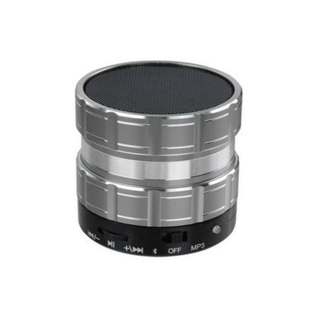 Silver Portable Mini (Insten Silver Portable Mini Speaker for Cell Phone Smartphone Tablet PC Laptop)