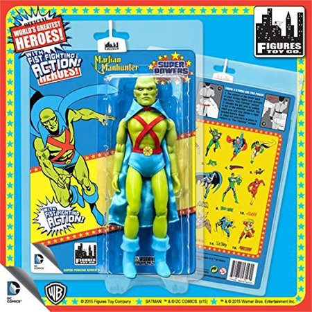 Super Powers 8 Inch Action Figures With Fist Fighting Action Series 3: Martian - Martian Manhunter Cosplay