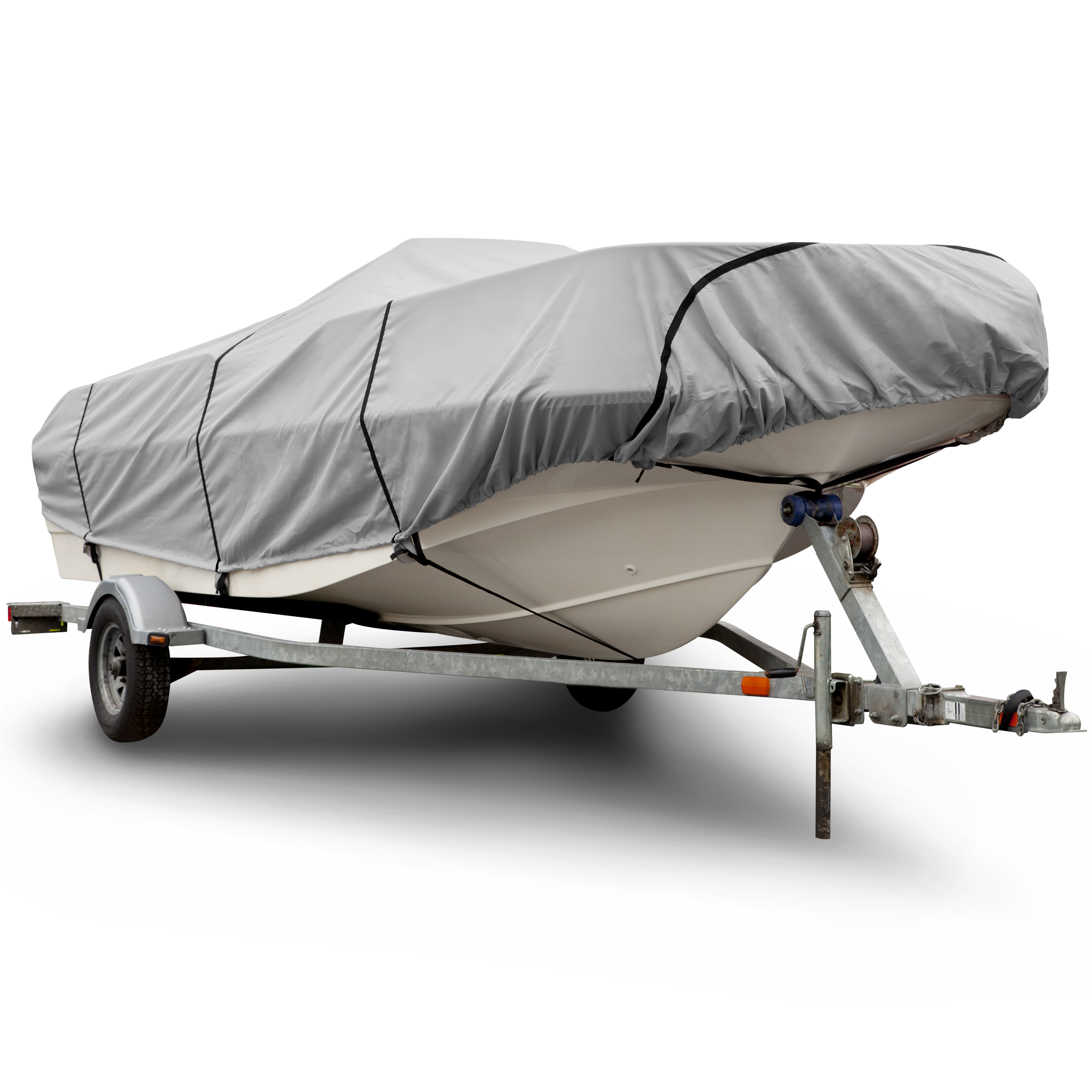 BUDGE 600 Denier Center Console V-Hull Boat Cover, Waterp...