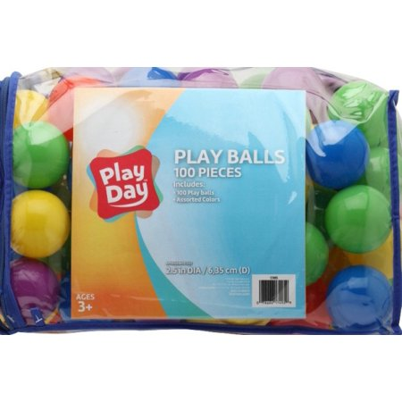 Play Day 100 Count Crush Resistant Pit Balls
