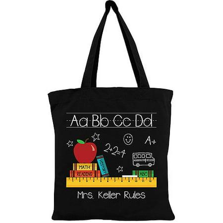 Personalized Teachers Gift - Teachers Rule Tote - Teacher Tote Bags
