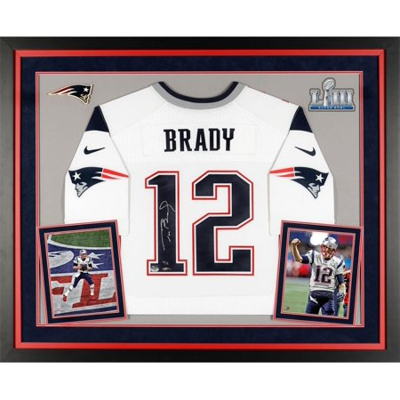 Tom Brady New England Patriots Super Bowl LIII Champions Deluxe Framed Autographed White Elite Jersey - TRISTAR - Fanatics Authentic Certified