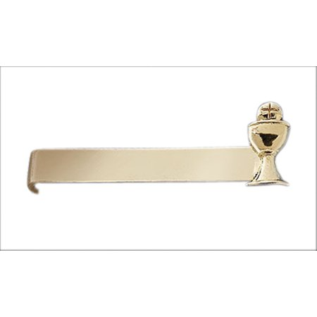 Gold Tone First Communion Host in Chalice Tie Bar Clip, 1 1/4 Inch](First Communions)