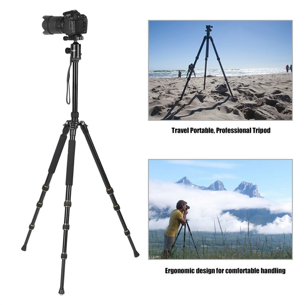 ZOMEI Travel Portable Tripod 360 Degree Swivel Ball Head For SLR Camera