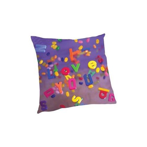Zoomie Kids Houghton I Love You Letters Throw Pillow