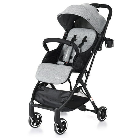 Baby Diaper Carriage - Costway Foldable Baby Stroller Lightweight Kids Carriage Pushchair W/ Foot Cover Gray