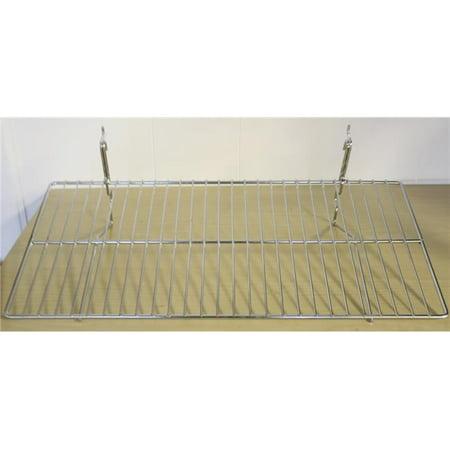 BSK2412-CH 23.5 x 12 in. Wire Shelf for Grid & Slat Wall,