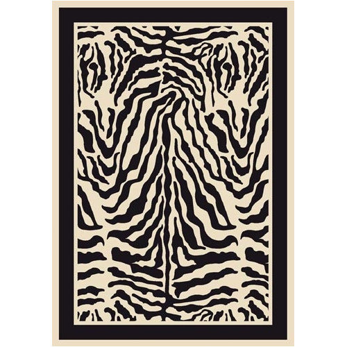 Milliken Innovation Print Zulu Zebra Area Rug