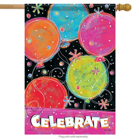 Celebrate Birthday Balloons House Flag Party Celebrate Streamers 28
