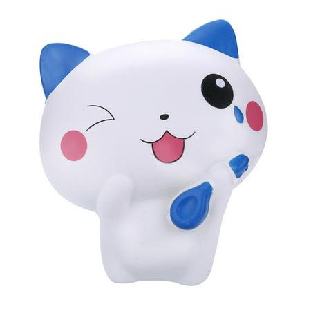 Squishy Jumbo Kawaii Cat Soft Slow Rising Cream Scented Stress Relief Toy (Cat Soft Cream)
