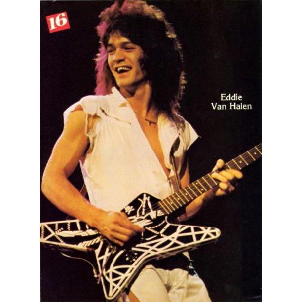 27inx40in Eddie Van Halen Poster Giclee Print 27inx40in Entertainment Theme Room Art Poster 27x40 Walmart Com Walmart Com