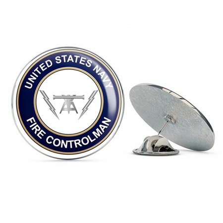 US Navy Fire Controlman Round FC  Military Veteran USA Pride Served Gift Metal 0.75
