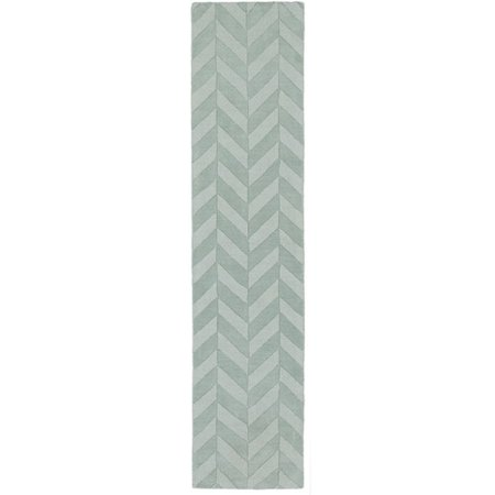 Artistic Weavers Central Park Teal Chevron Carrie Area Rug (Teal And White Chevron Rug)