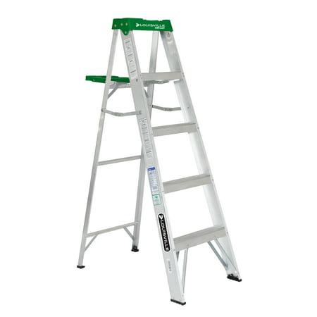 Louisville Ladder 5 ft. Aluminum Step Ladder, Type II, 225 lbs Load Capacity, AS4005