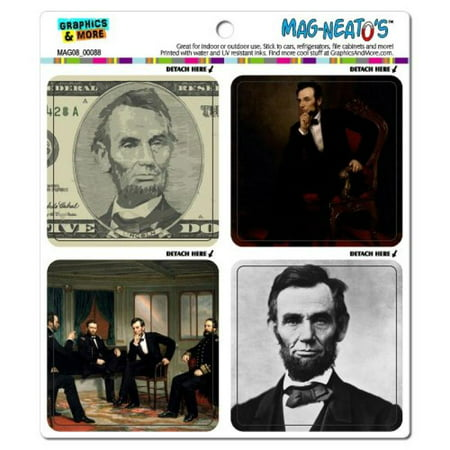 Refrigerator Picture Magnets (Graphics and More Abraham Abe Lincoln Pictures President Historical U.S. History Mag-Neato's Car Refrigerator Locker Vinyl Magnet)