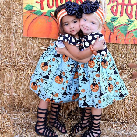 Toddler Baby Girls Princess Dress Kids Party Pageant Holiday Halloween Dresses