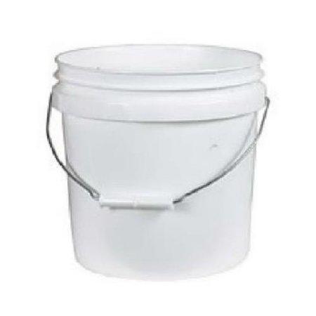 Leaktite 01GL024 1-Gallon White Plastic Pail - Plastic Pails