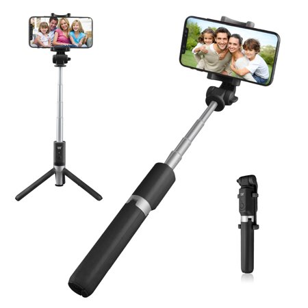 Bluetooth Selfie Stick, EEEKit Professional Extendable Selfie Stick Tripod  + Removable Bluetooth Remote Controller + 360 Degree Camera Monopod For