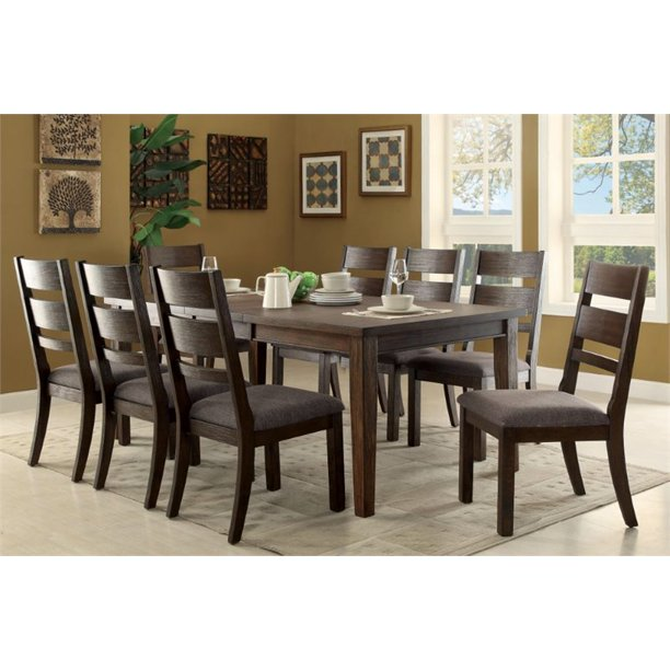 9 Piece Extendable Dining Set, Nine Piece Dining Room Table Set